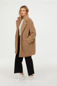 Manteau court en peluche - H&M
