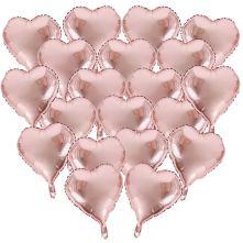 Ballons en forme de coeur rose poudré