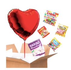 ballon coeur - pack bonbon