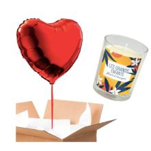 ballon coeur - pack bougie