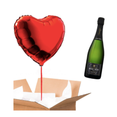 ballon coeur - pack champagne