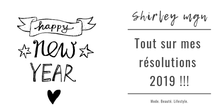 Mes résolutions 2019