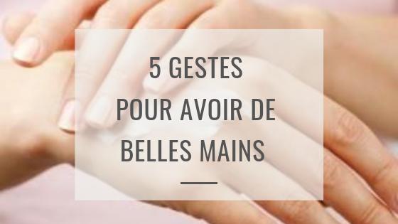 5 gestes pour de belles mains enhiver