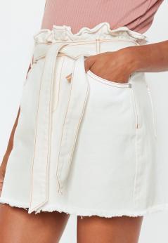 Missguided - jupe en jean blanche