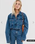 asos veste en jean courte 34,99€